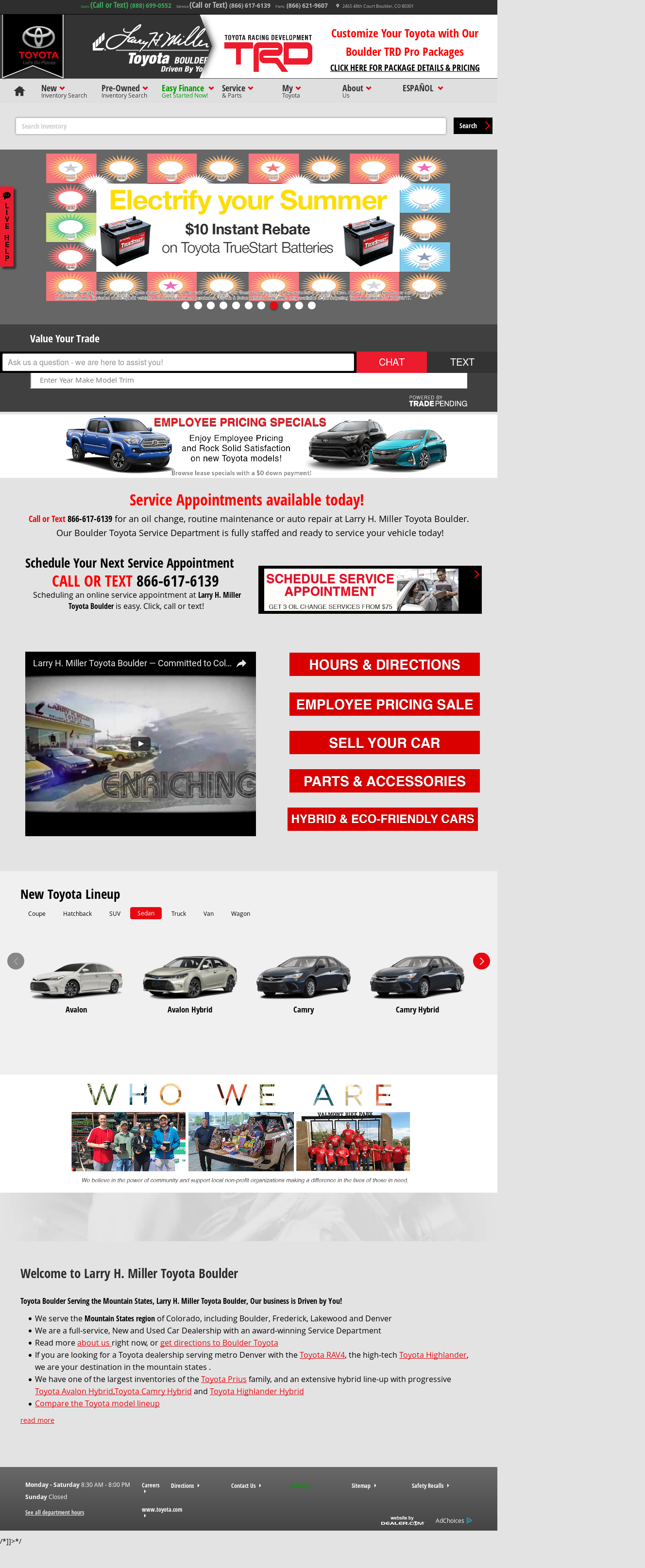 Larry H. Miller Toyota Boulder Website History