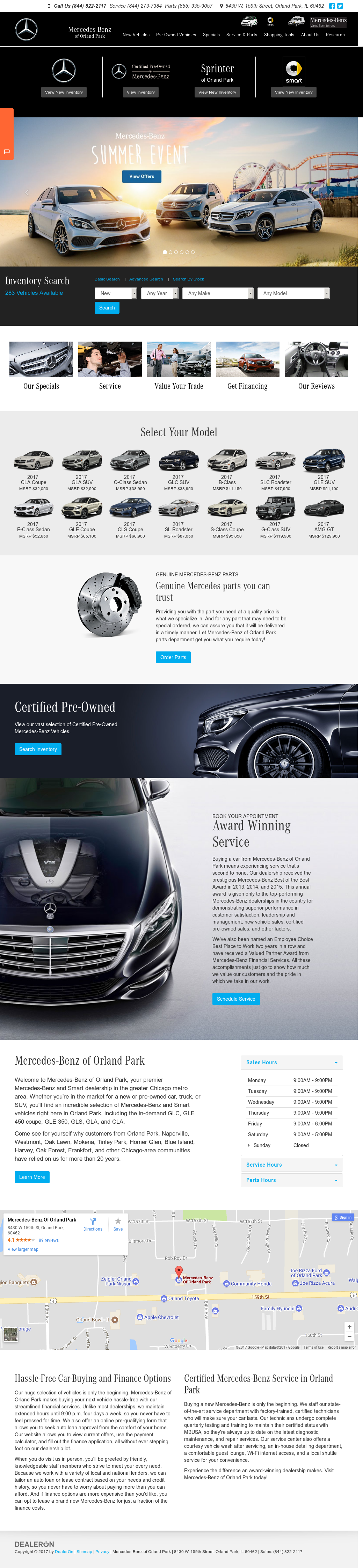 Mercedes Benz Of Orland Park Website History