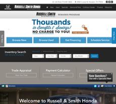 Russell U0026 Smith Hondau0027s Website Screenshot On ...