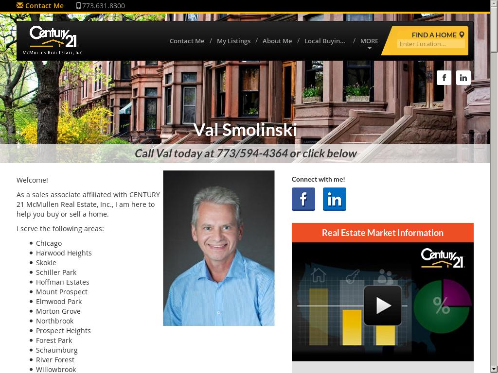 Waldemar Val Smolinski Century 21 Mcmullen Real Estate