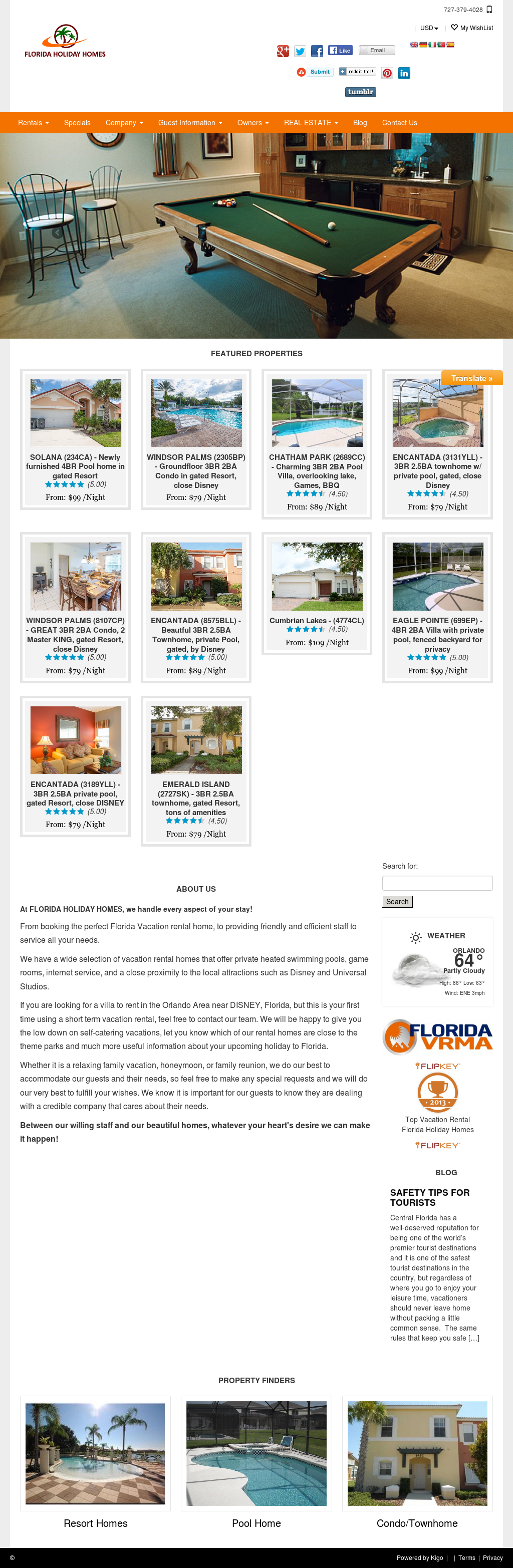 Florida Holiday Homes Competitors, Revenue and Employees - Owler