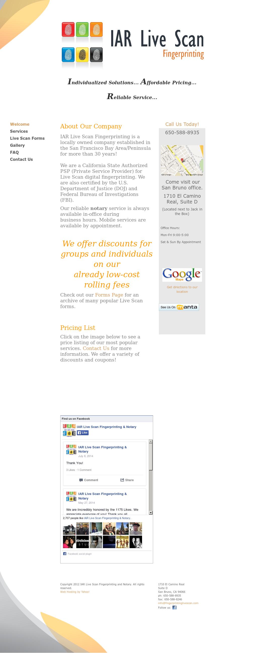 Iar Live Scan Fingerprinting Notary Competitors Revenue
