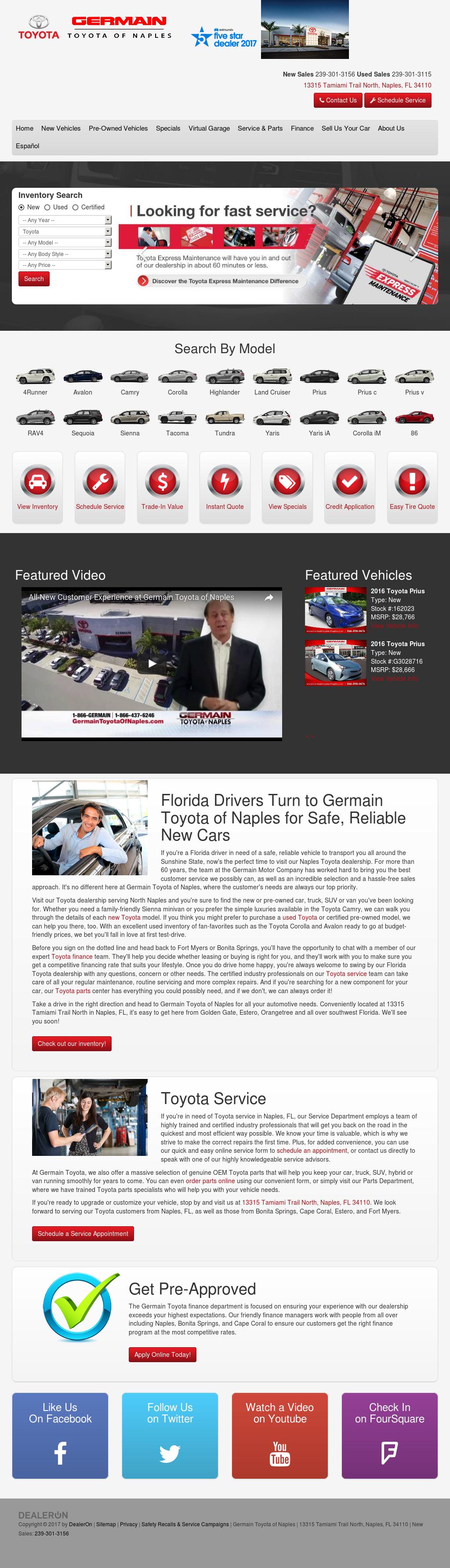 Germain Toyota Of Naples Website History