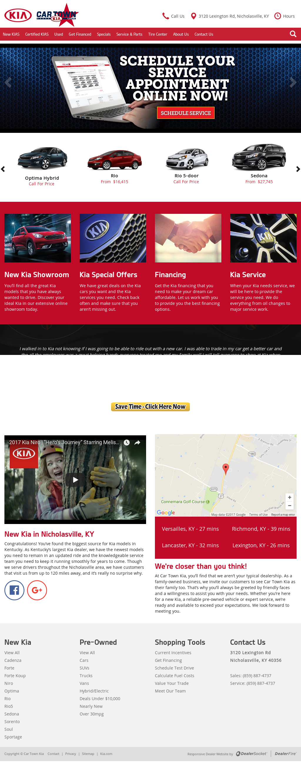 Car Town Kia USA Website History