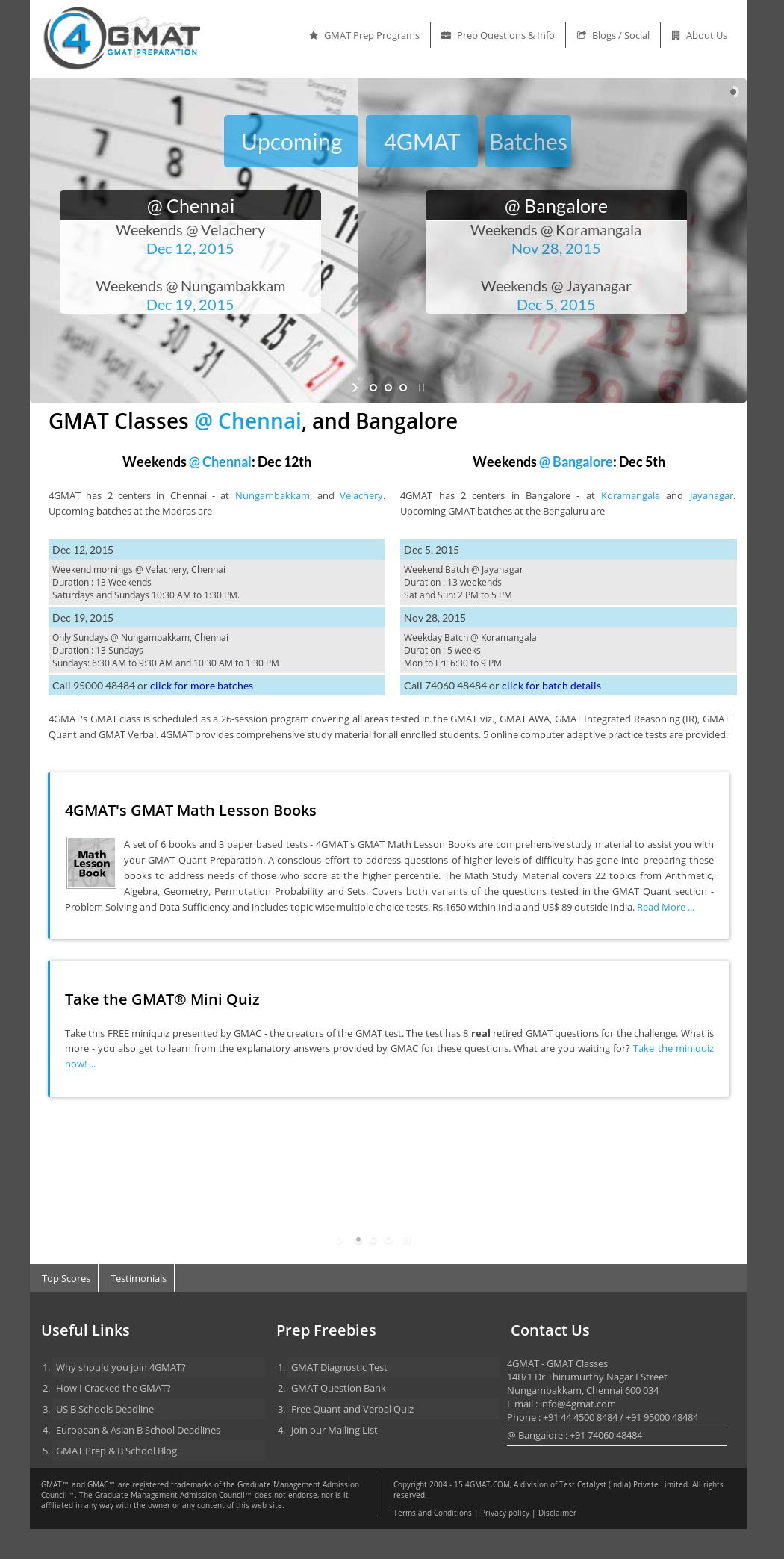 4gmat Gmat Classes, Preparation, Ebooks Competitors, Revenue