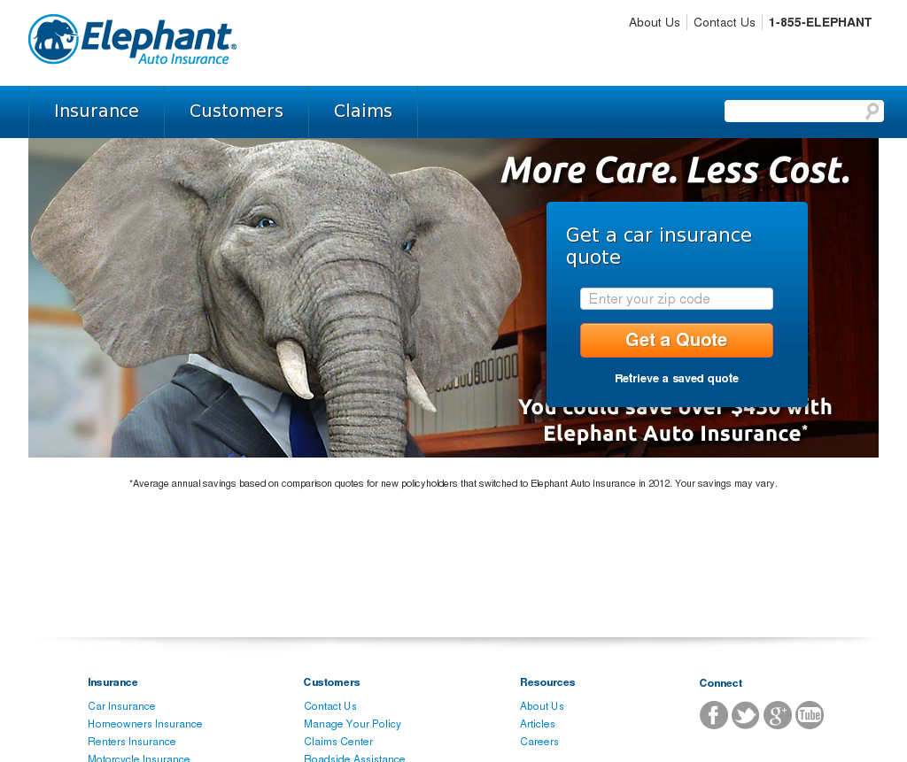 Elephant Insurance Compeors Revenue And Employees Owler Company Profile