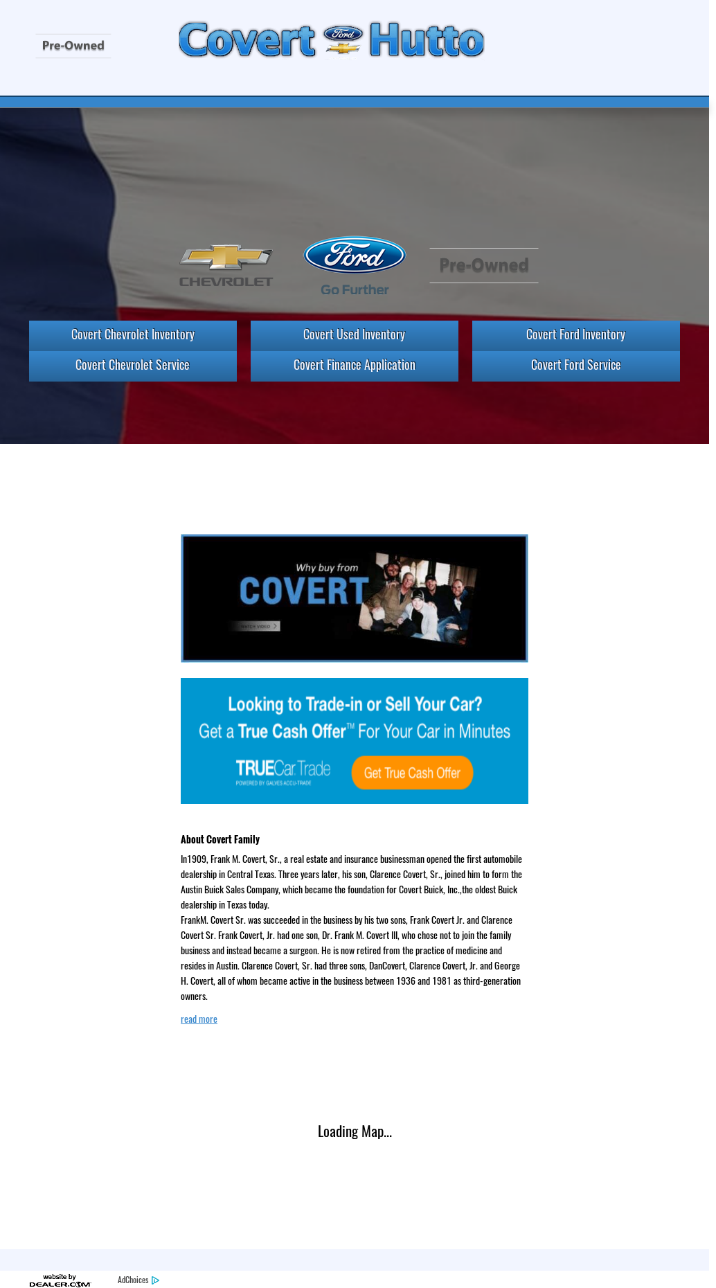 Covert ford chevrolet website history
