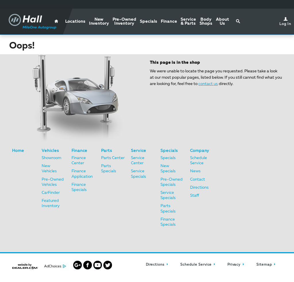 Hall Chrysler Dodge Jeep Ram Virginia Beach Website History