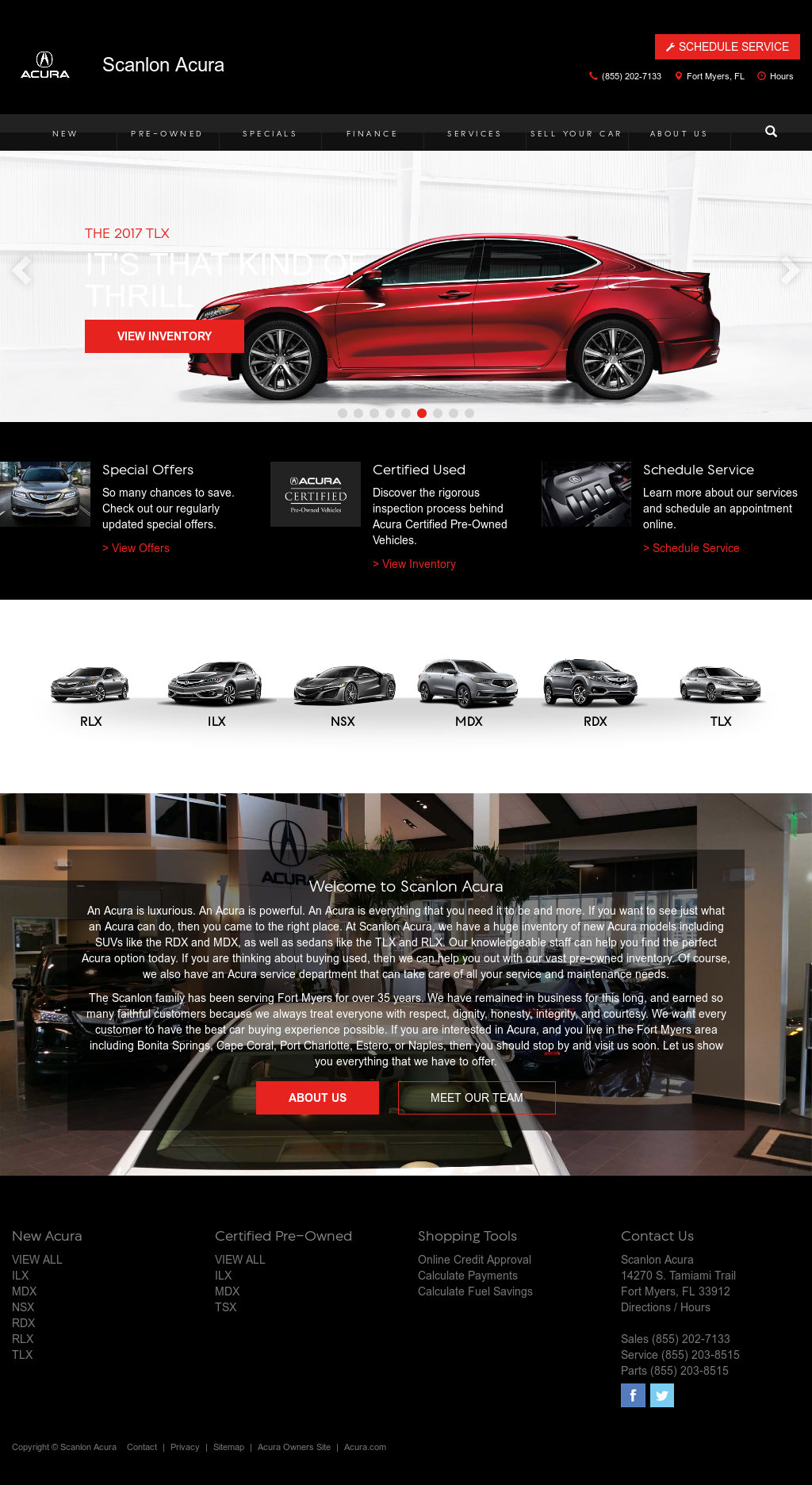 Scanlon Acura Car Dealers 14270 S Tamiami Trl Fort Myers Fl >> Scanlon Acura Competitors Revenue And Employees Owler Company Profile