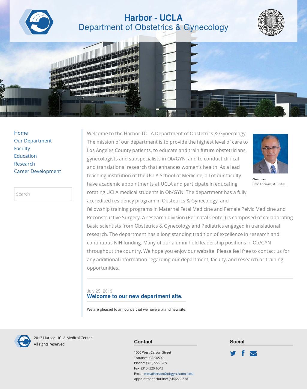Harbor-ucla Department Of Obstetrics & Gynecology
