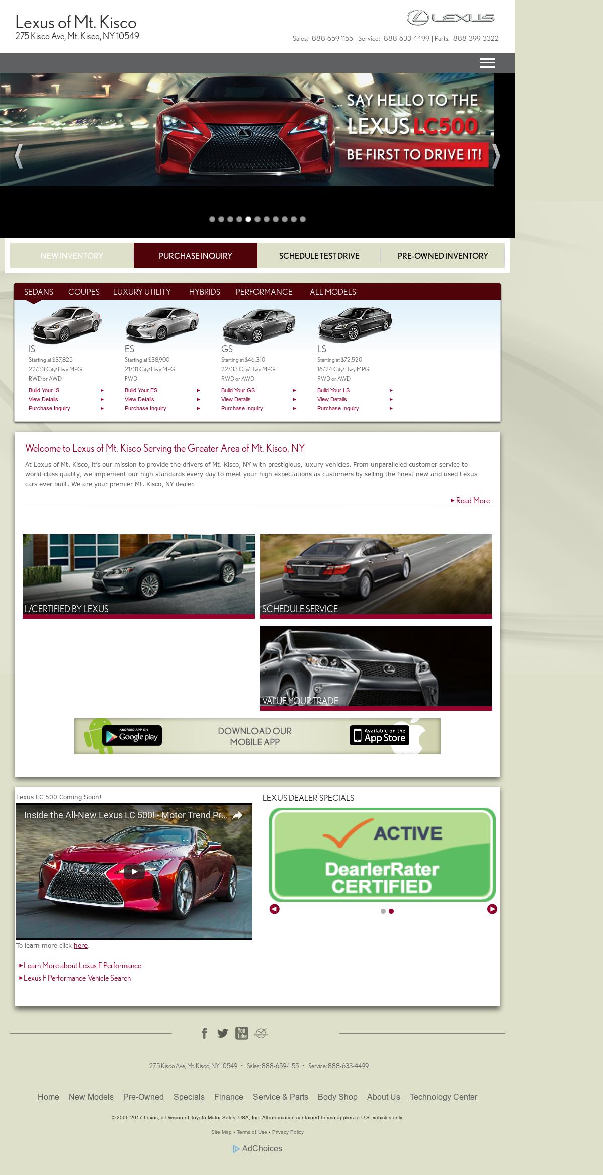 Lexus Of Mt. Kisco Website History