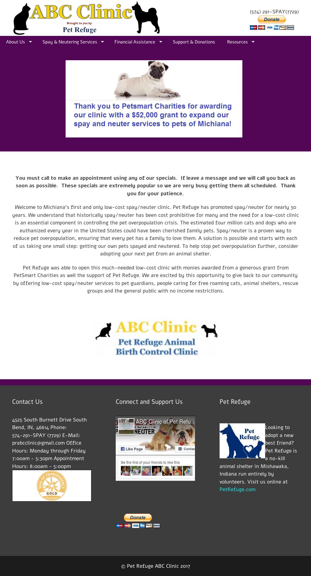 Pet Refuge Abc Clinic Website History