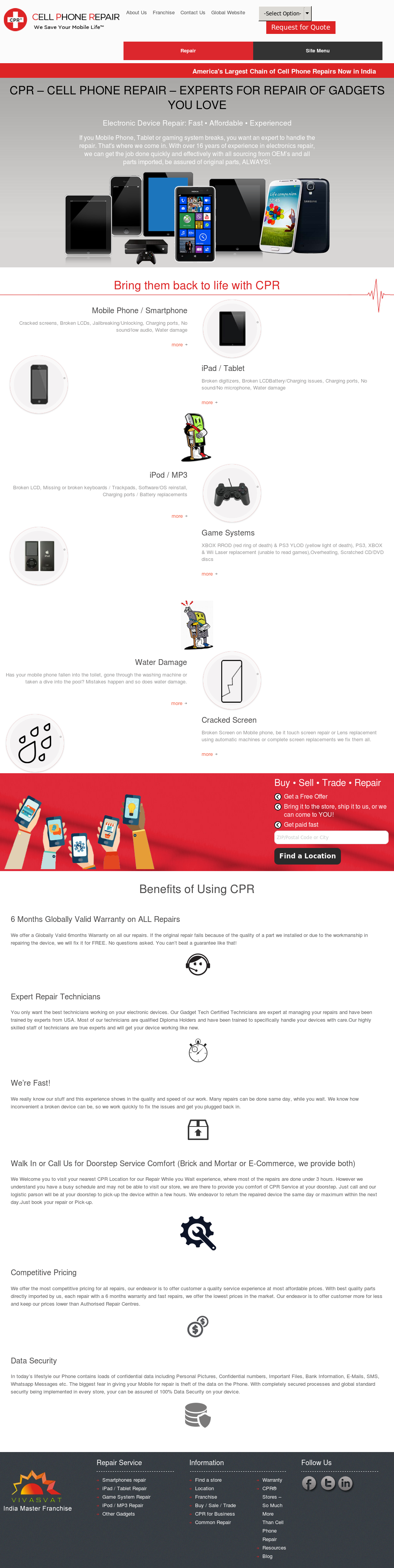 Cpr Cell Phone Repair India Competitors, Revenue and Employees