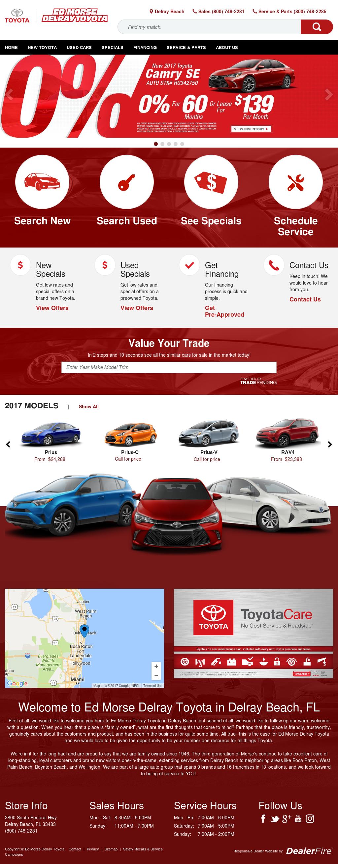Ed Morse Delray Toyota Website History
