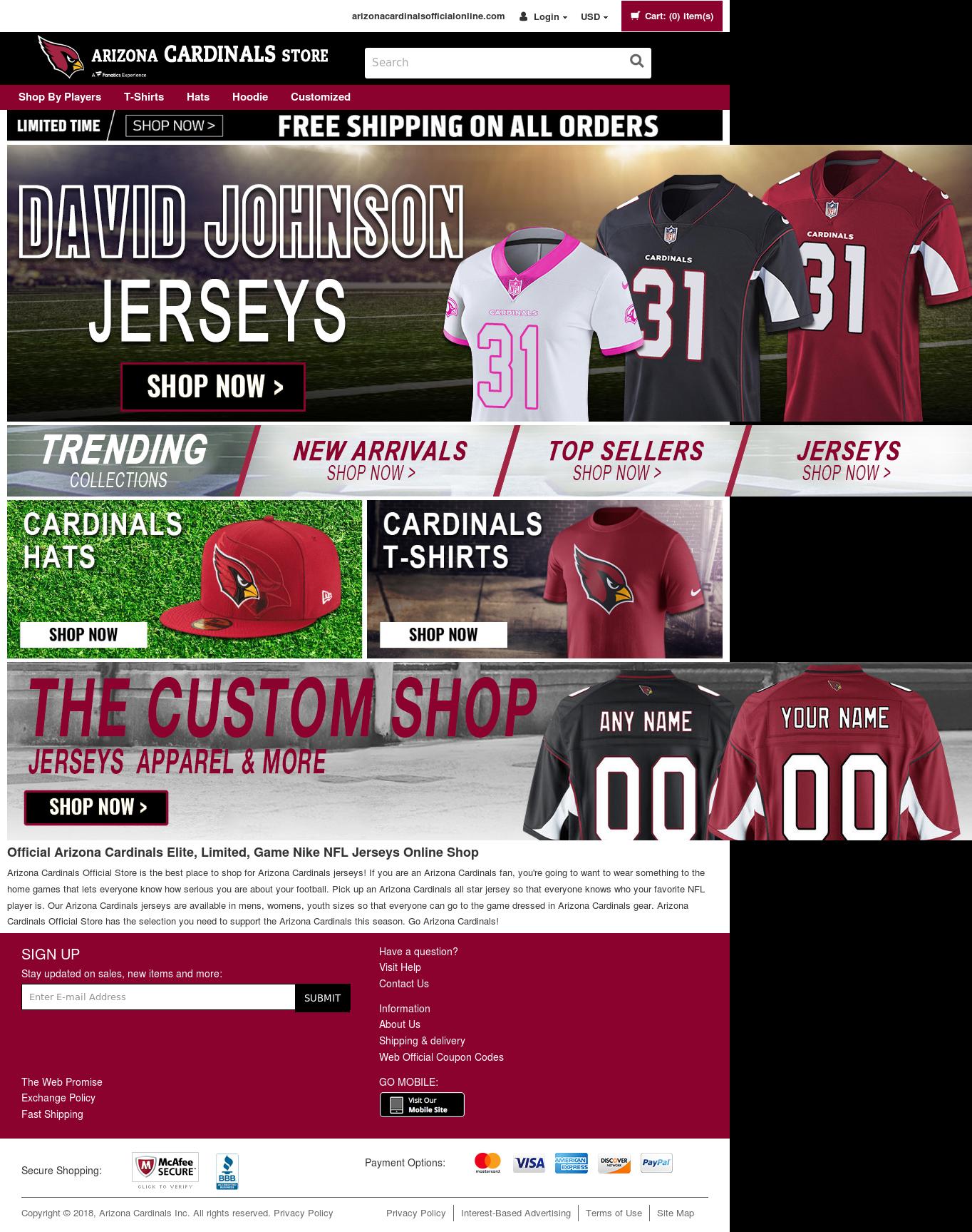 the latest ad070 3eb49 Arizona Cardinals Team Shop Competitors, Revenue and ...