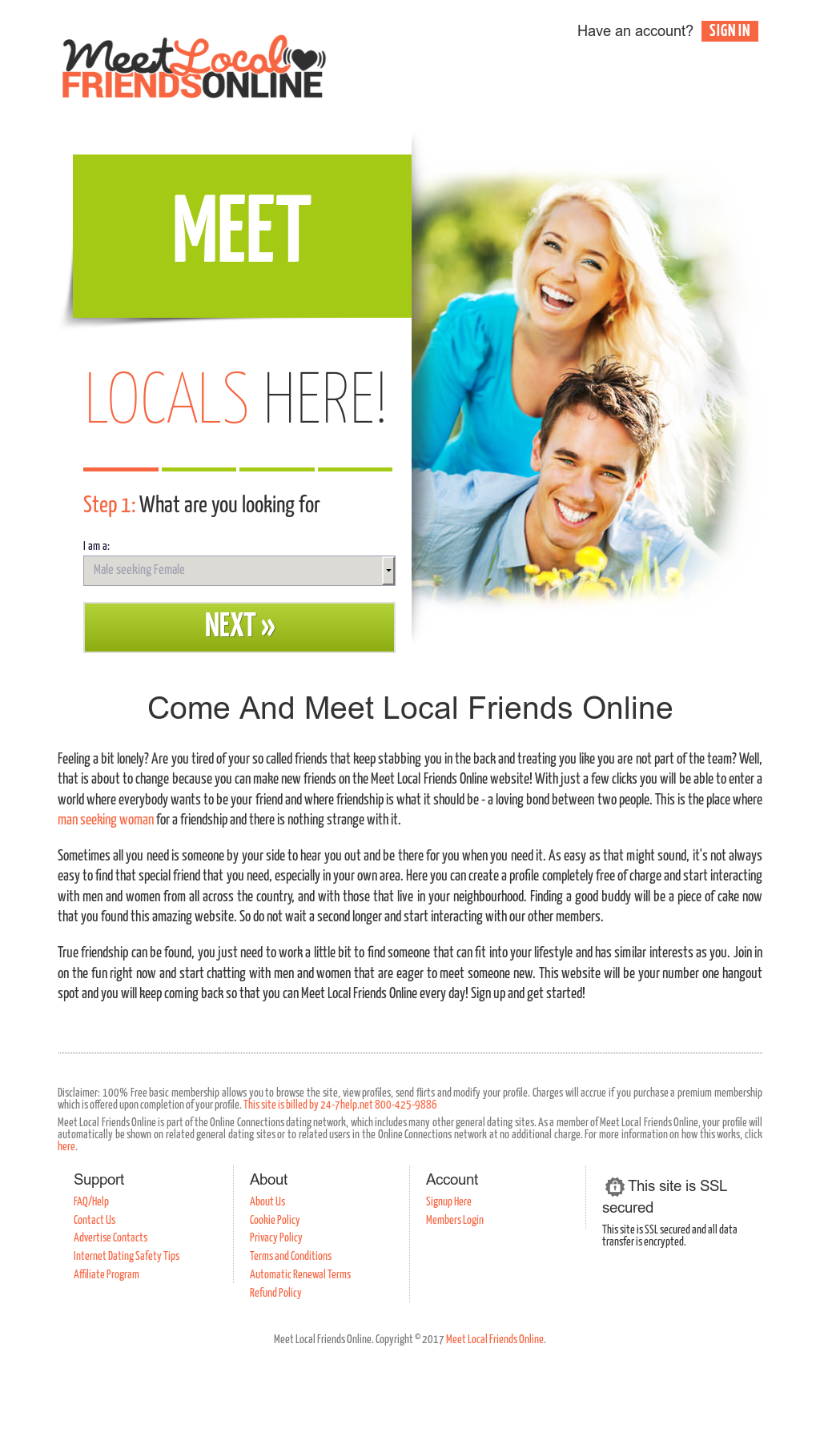Meet local friends online