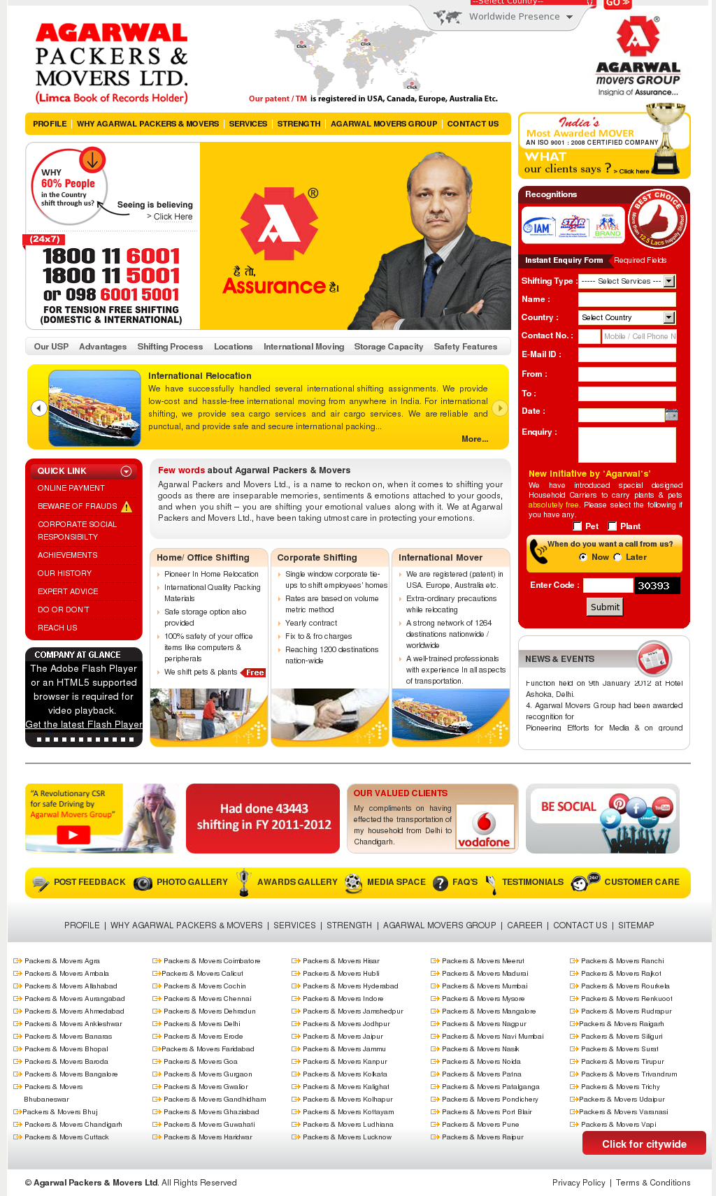 Agarwal Packers and Movers Competitors, Revenue and