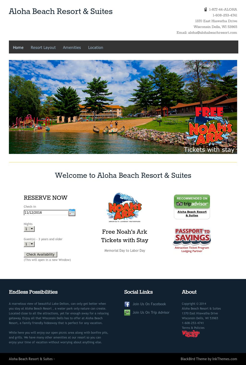 Aloha Beach Resort Wisconsin Dells