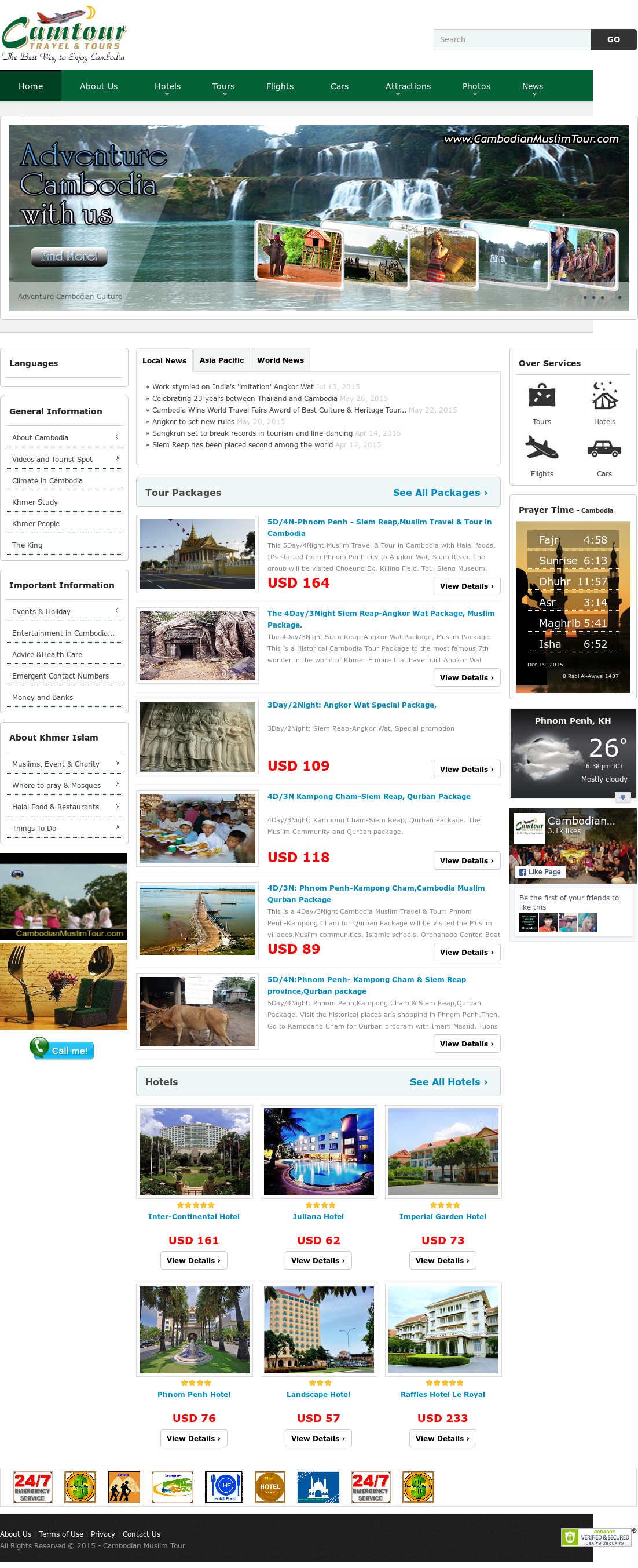 Cambodian Muslim Tour Competitors, Revenue and Employees