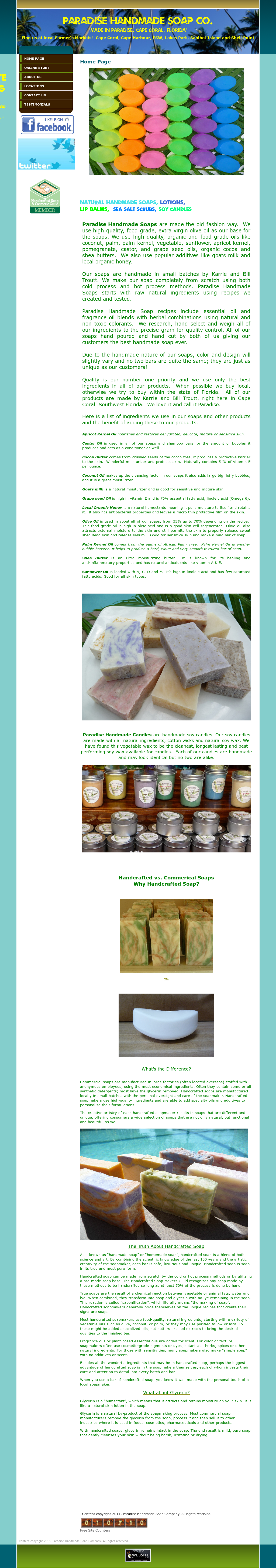 Paradise Handmade Soap Company Competitors, Revenue and
