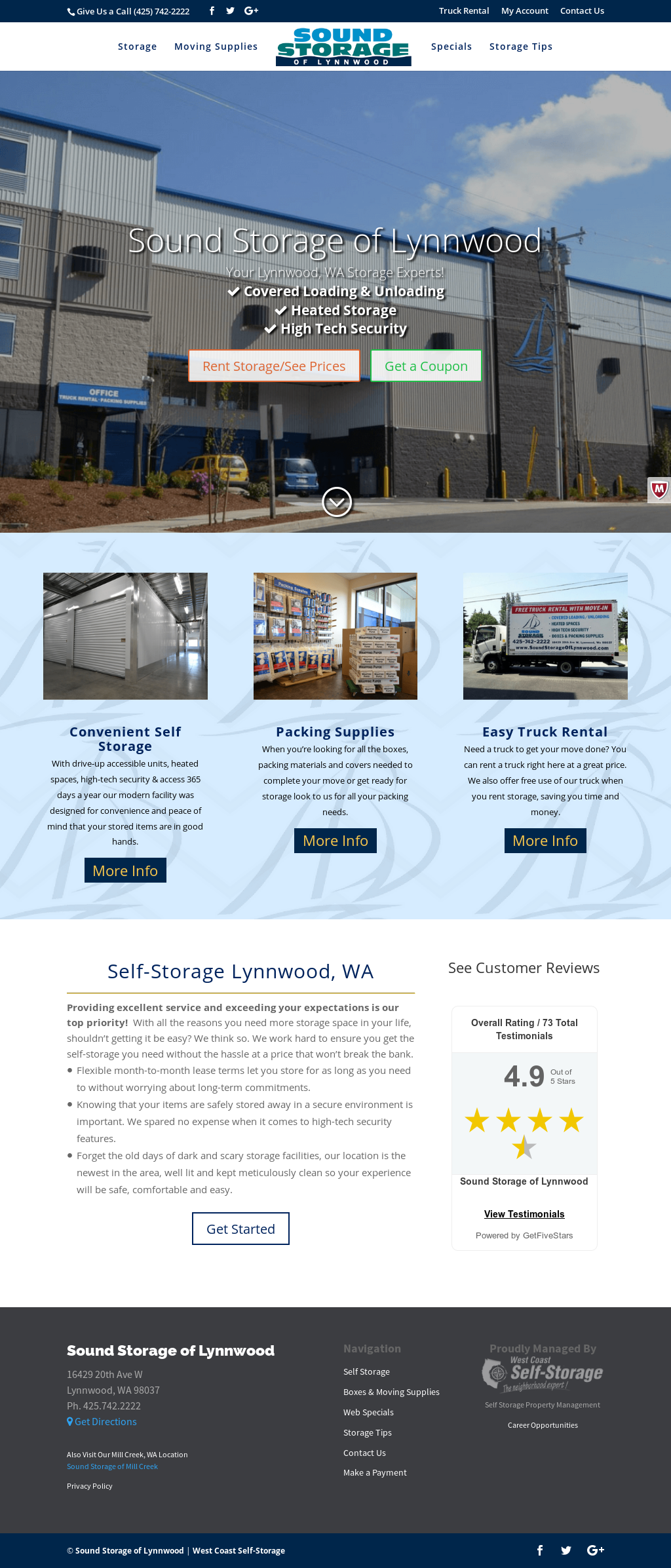 Sound Storage Of Lynnwood Website History