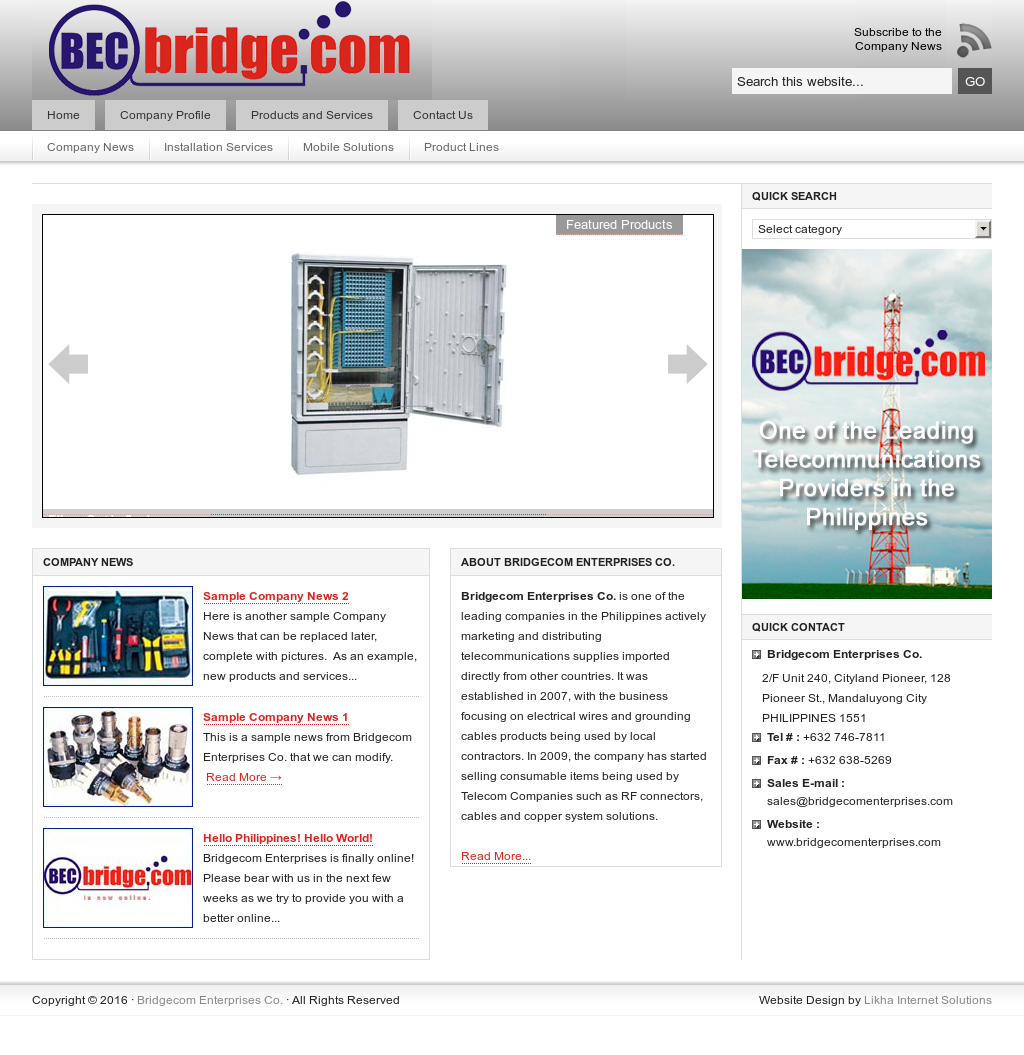 Bridgecom Enterprises Competitors, Revenue and Employees