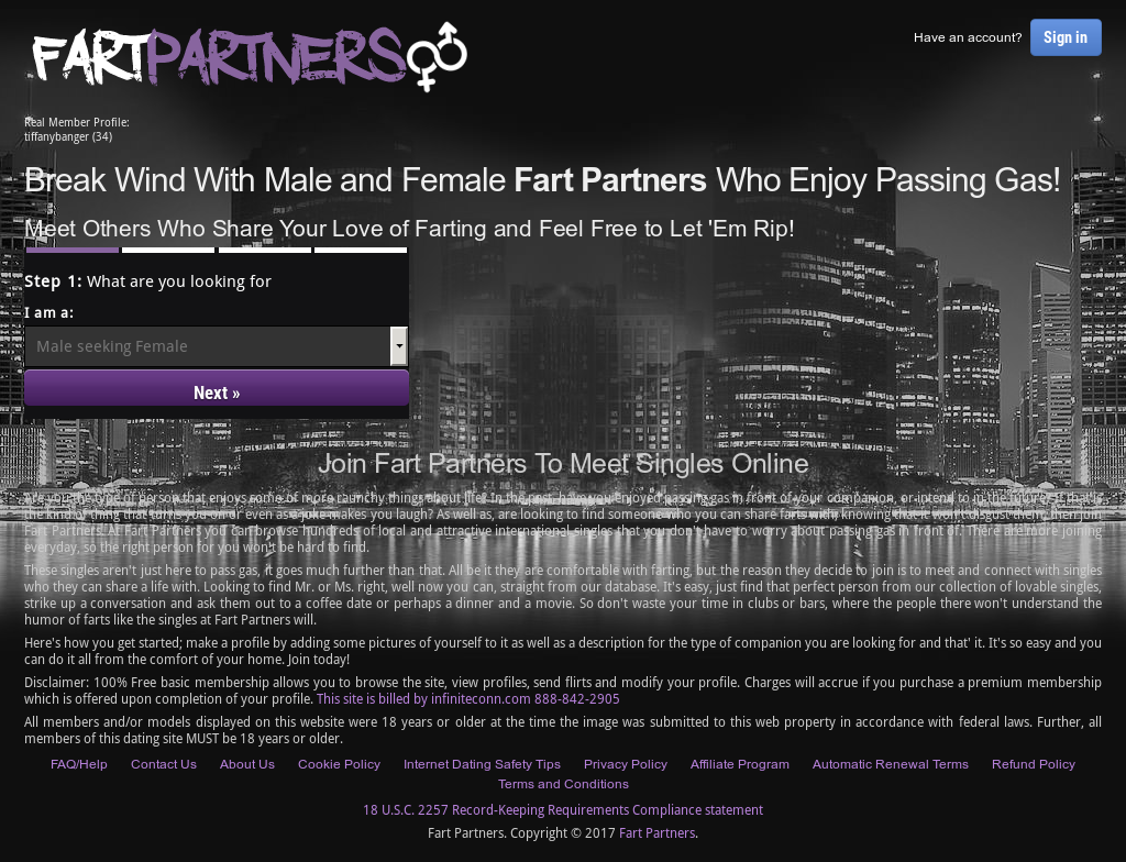 Farting dating website