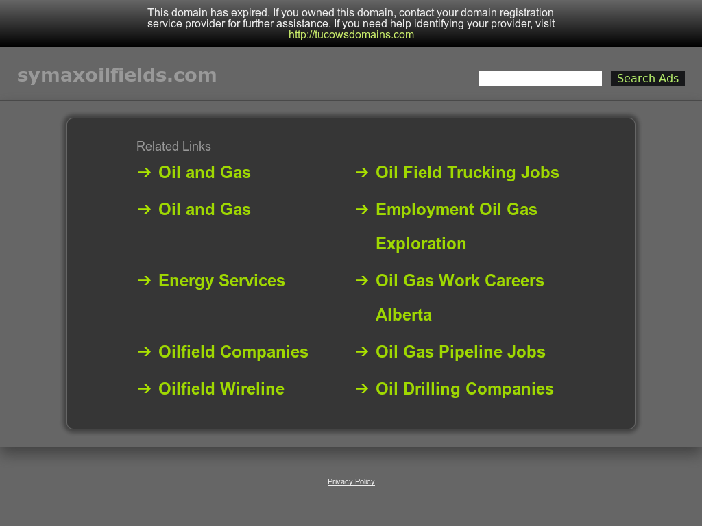 Symax Oilfield Services Competitors, Revenue and Employees