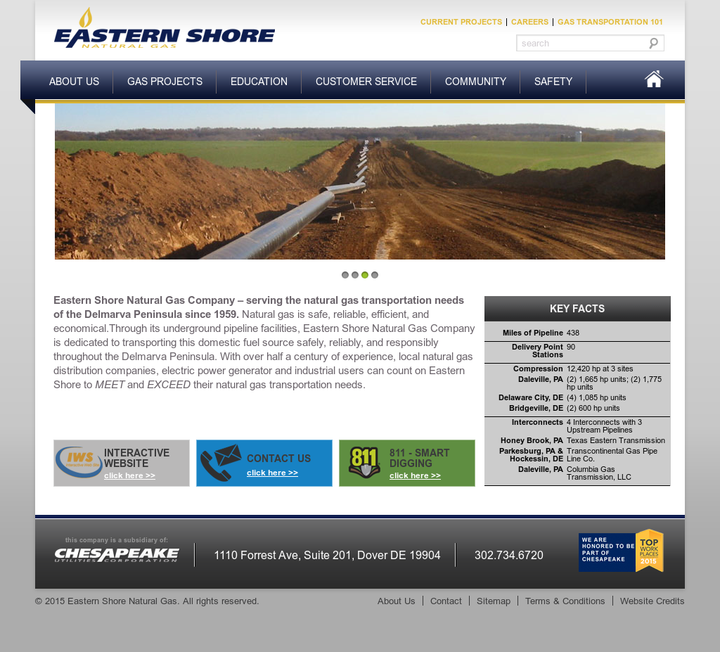 Eastern Shore Natural Gas Competitors, Revenue and Employees