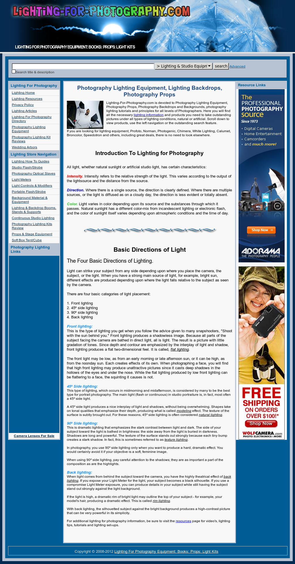 Lighting For Photography Equipment Competitors, Revenue and
