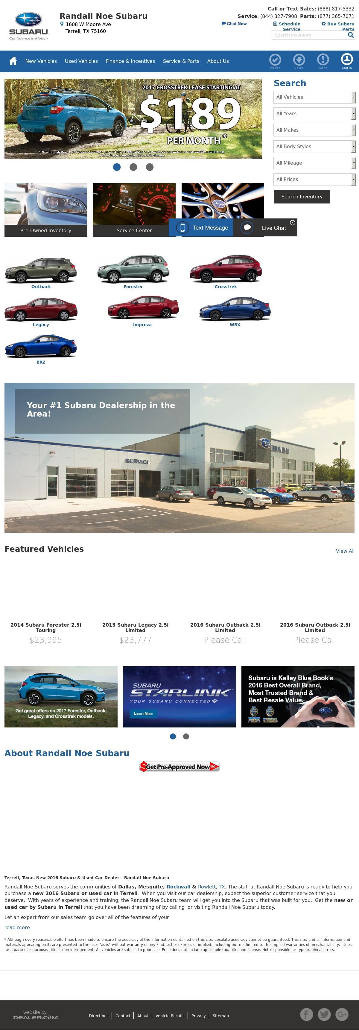 Randall Noe Subaru petitors Revenue and Employees Owler