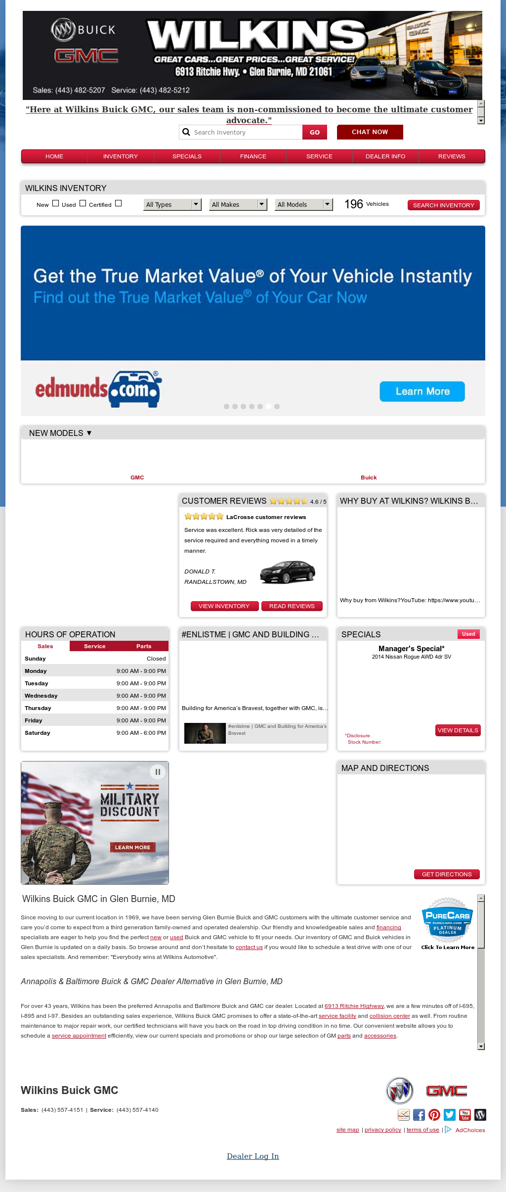 used store price htm demar suv md salisbury the truck buick inventory in index