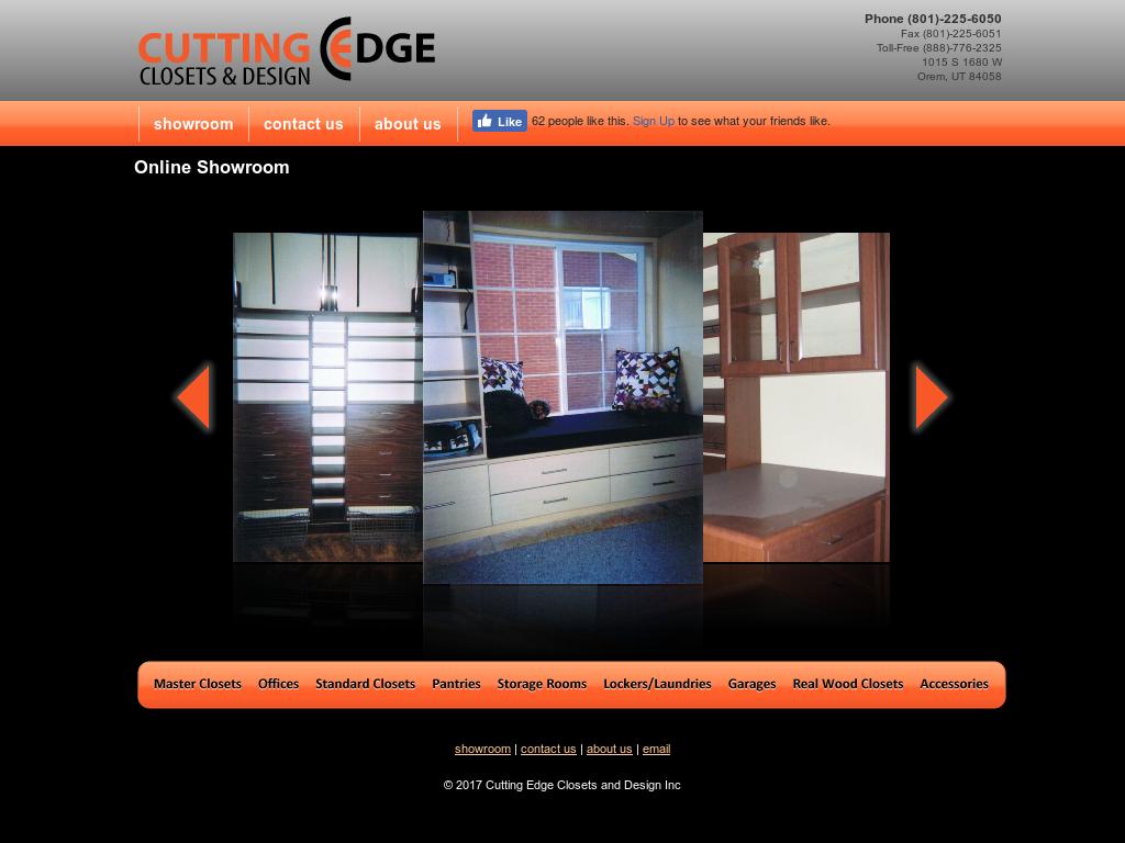 Cutting Edge Closets U0026 Design, A Utah Company Website History