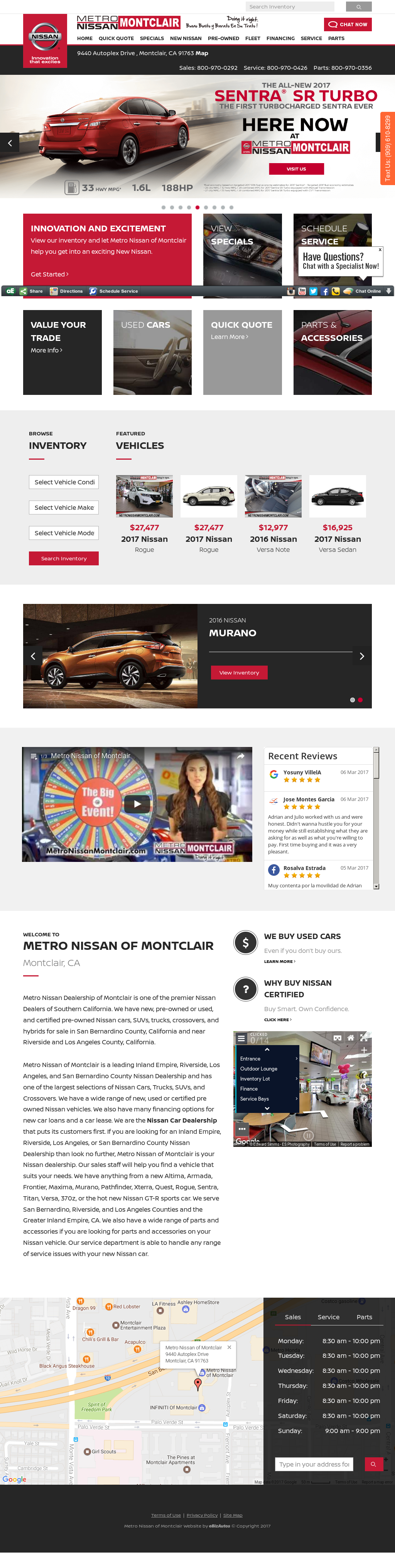 Metro Nissan Of Montclair Website History
