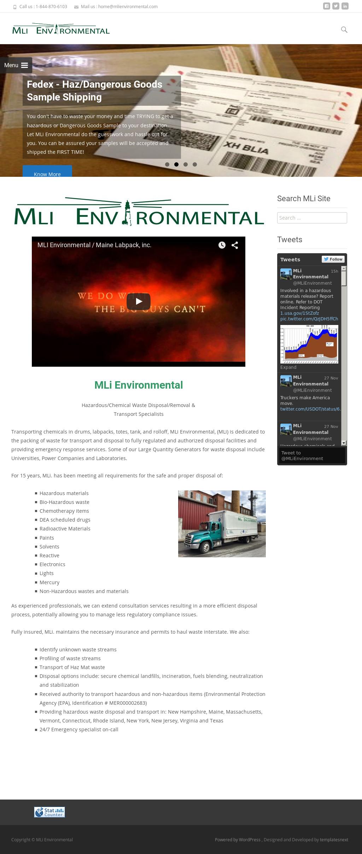 Maine Labpack, Inc  / Mli Environmental Competitors, Revenue