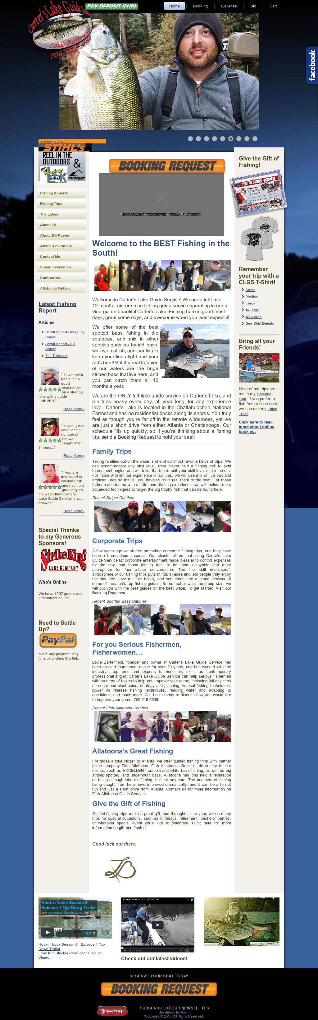 Carters lakefishing trip 8 hours | backwoods fishing guide.