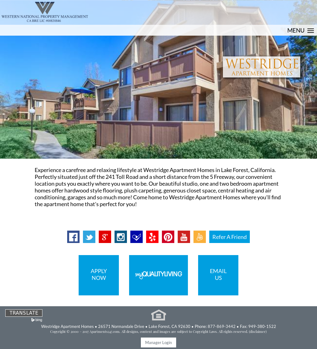 Westridge Apartment Homes Competitors, Revenue and Employees - Owler ...