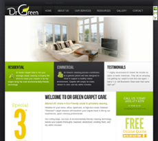 Dr Green Carpet Care Website History