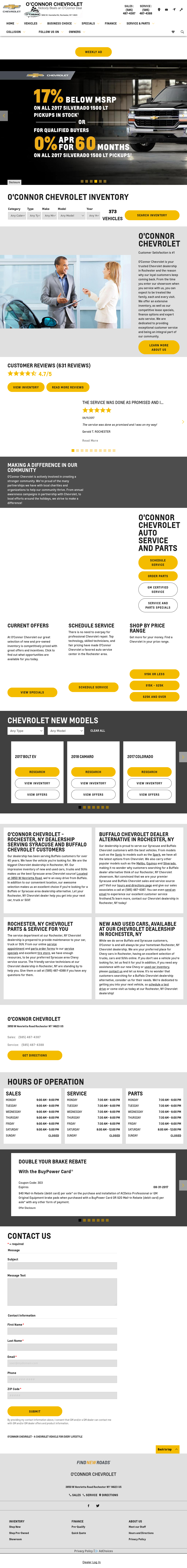O Connor Chevrolet petitors Revenue and Employees Owler