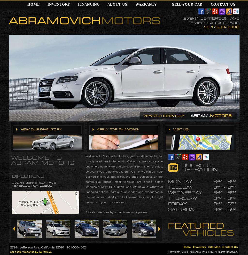 Abramovich Motors Competitors, Revenue and Employees - Owler Company Profile