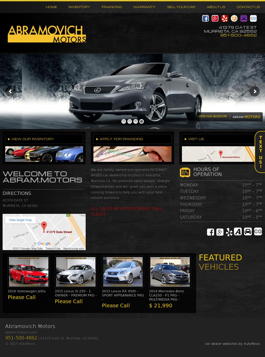 Abramovich Motors website history