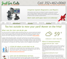 Just For Cuts Lawn Maintenance website history