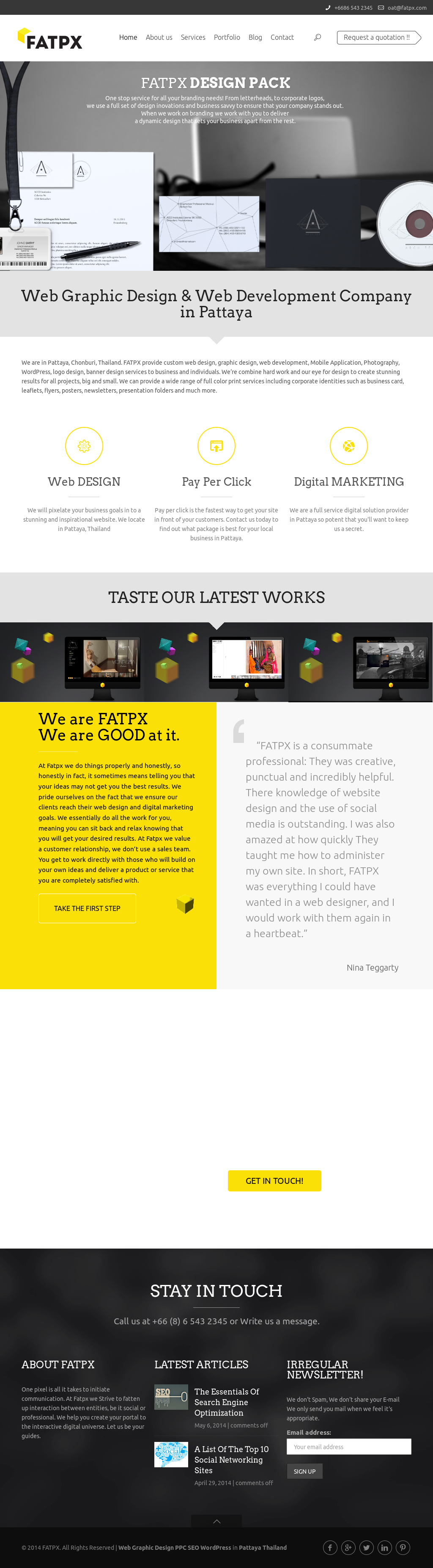 Web Design Digital Marketing In Pattaya Thailand Fatpx Competitors