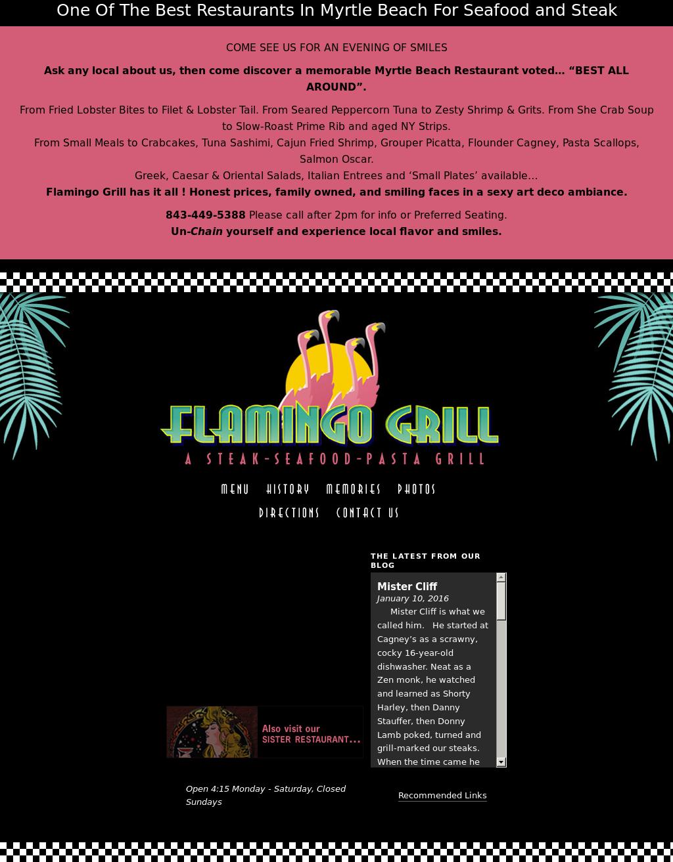 flamingo grill myrtle beach south carolina
