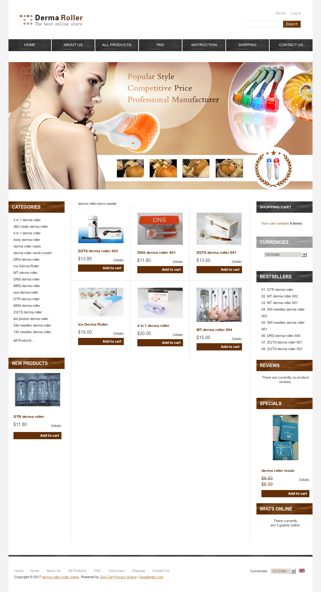 Derma Roller Order Online Competitors Revenue And Employees Owler