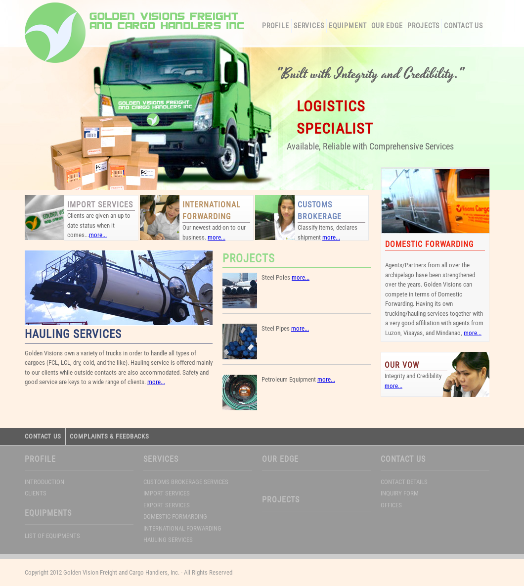 Golden Vision Freight And Cargo Handlers Competitors, Revenue and
