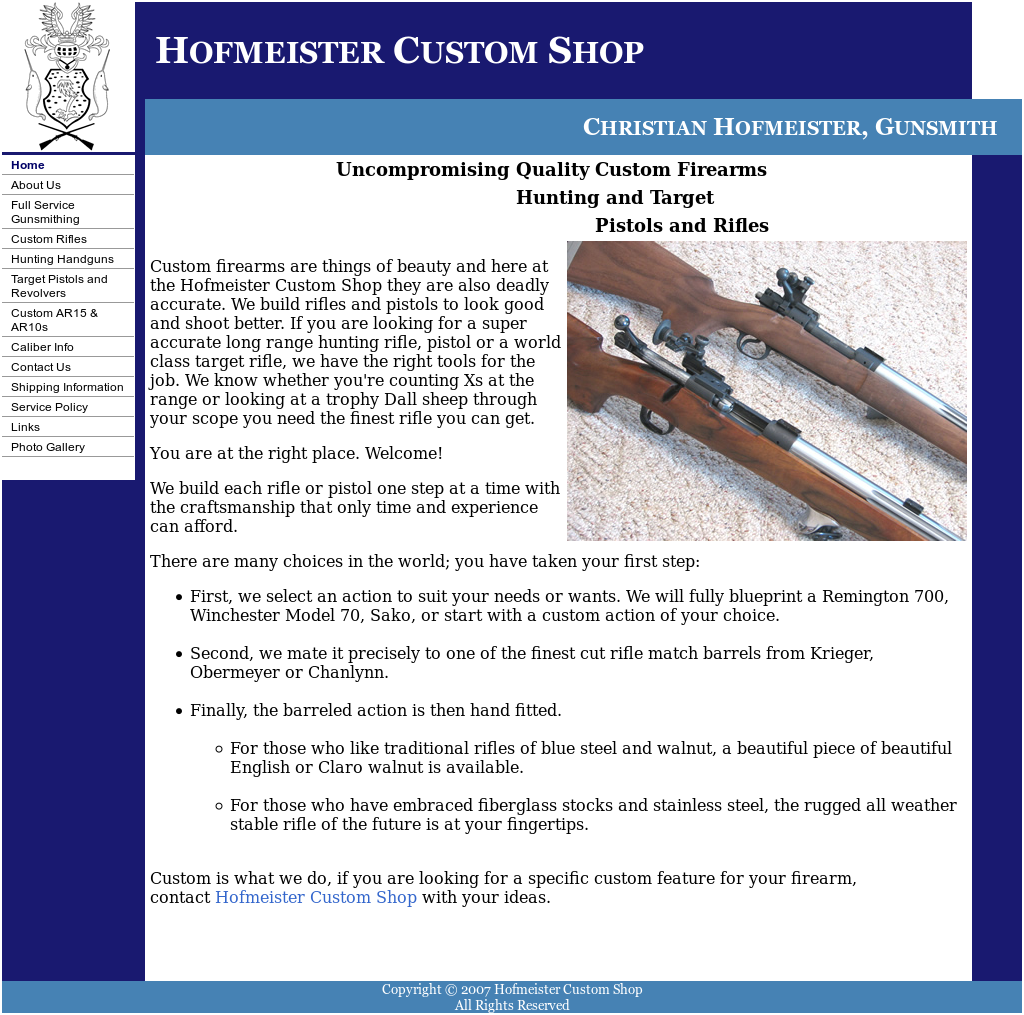 Hofmeister Custom Shop Competitors, Revenue and Employees