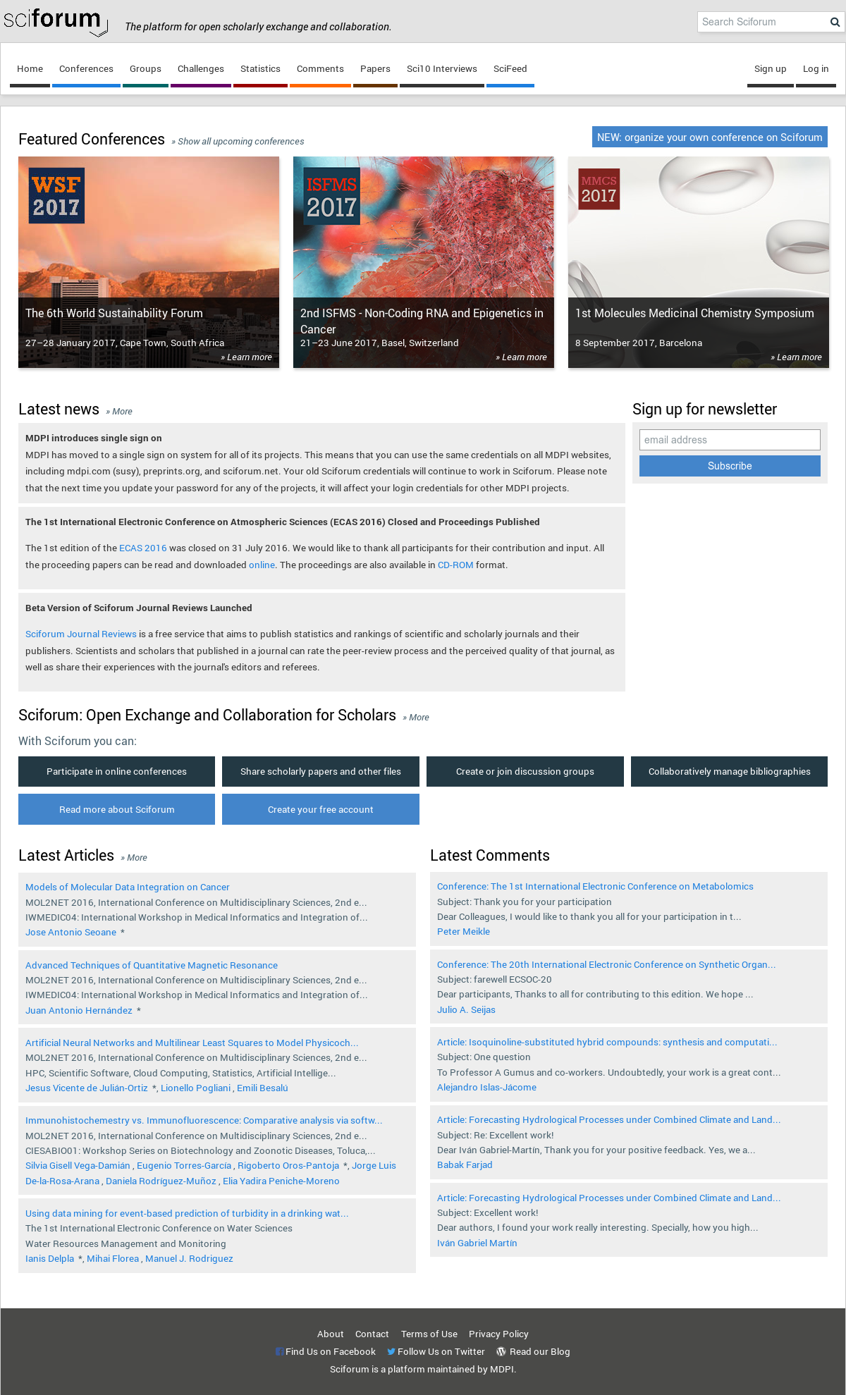 Sciforum Competitors, Revenue and Employees - Owler Company