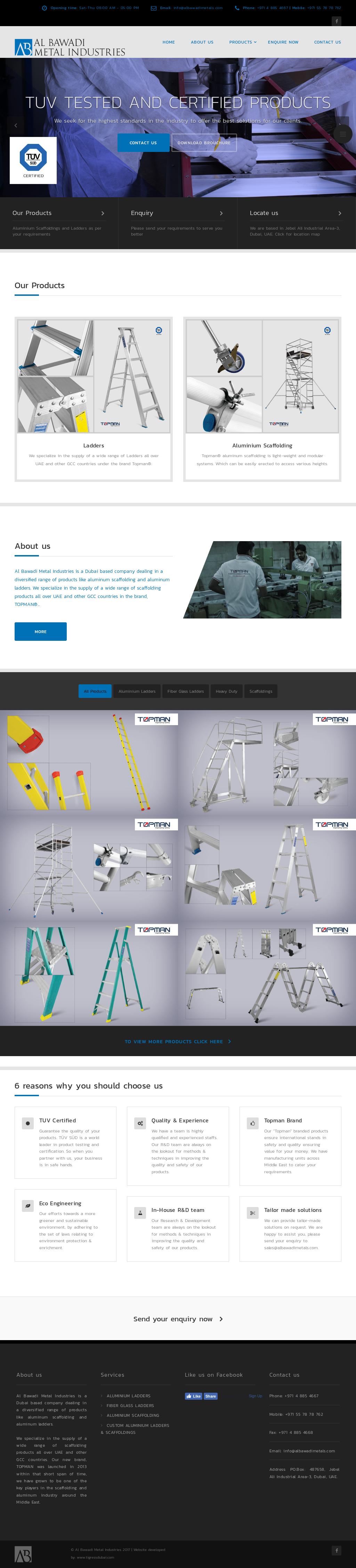 Al Bawadi Metal Industries Competitors, Revenue and