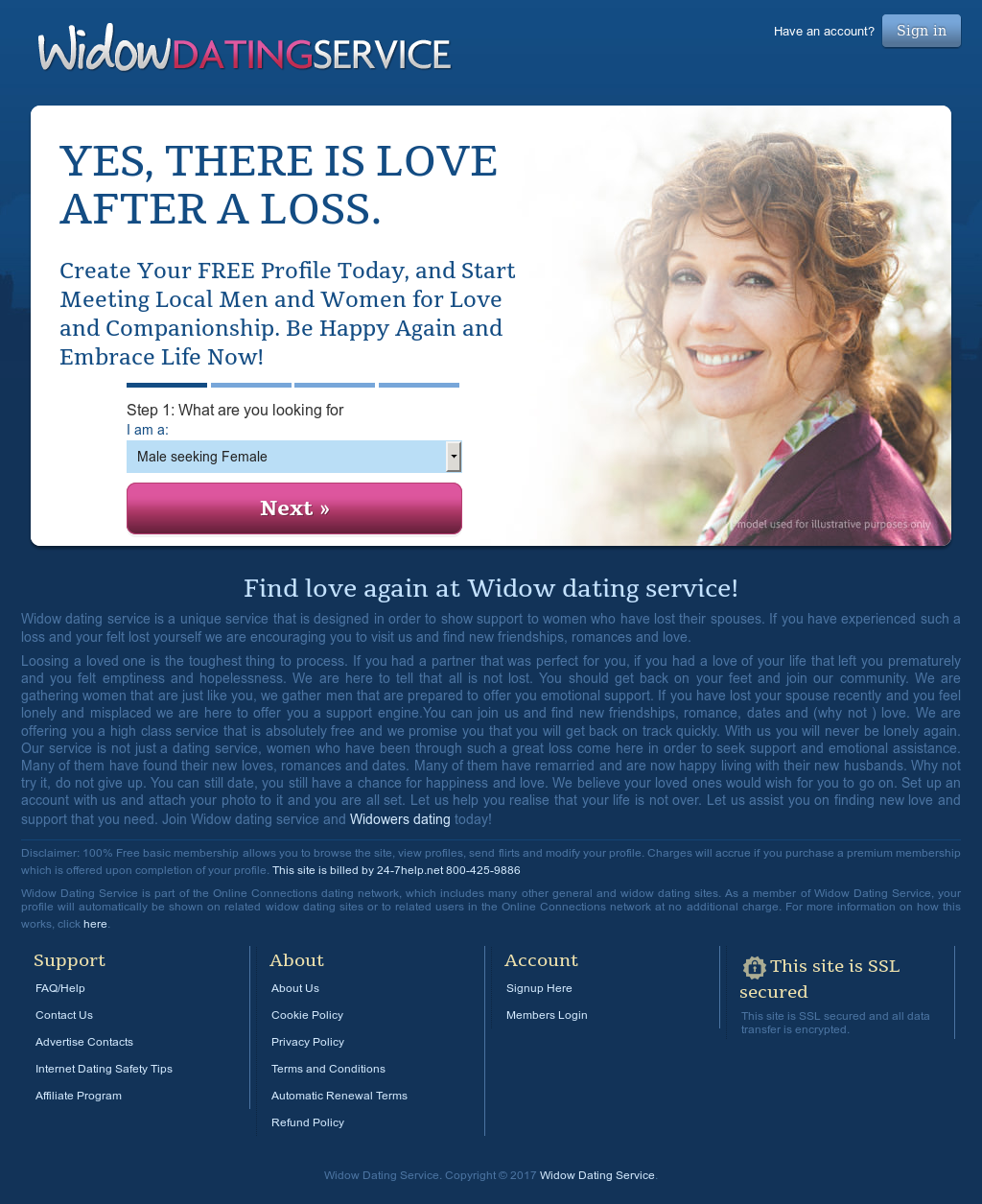 free widow dating sites
